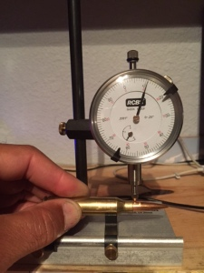 Concentricity gauge with approx .011