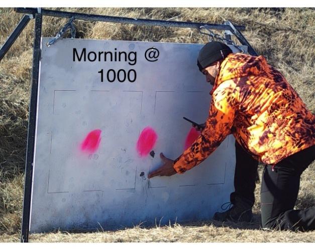 1010 yards morning